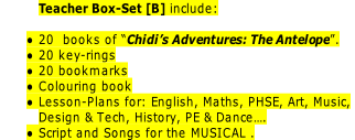 Teacher Box-Set [B] include: