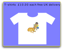 T-shirts  £10.00 each free UK delivery